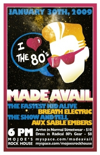 Show Posters on the Behance Network #design #graphic #1980s #poster #typography