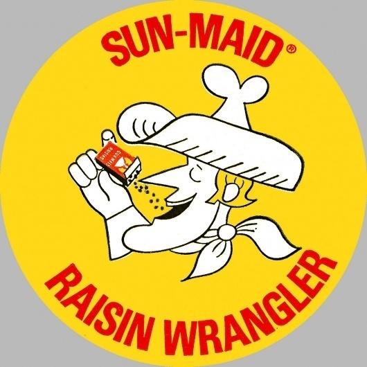 All sizes | Sun Maid Raisin Wrangler Sticker - 1960's | Flickr - Photo Sharing! #logo #illustration #retro #vintage