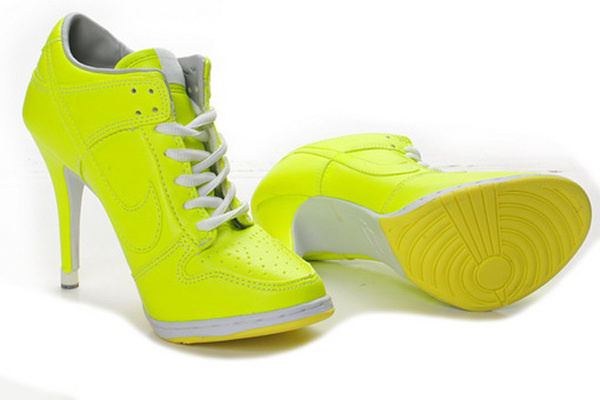 Female Dunk Low Heels Trainers New Colorways Green/Yellow #heels