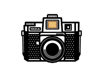 Dribbble - Holga by Ryan Harrison #icon #logo #illustration #camera