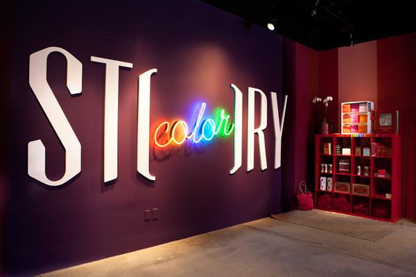STORY on the Behance Network #story #identity #signage #walsh #sagmeister