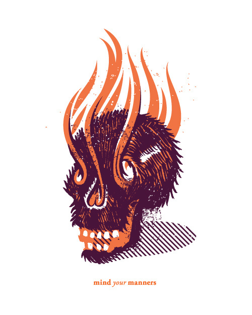 New work by Dan Christofferson. #mind #manners #dan #christofferson #illustration #your #skull