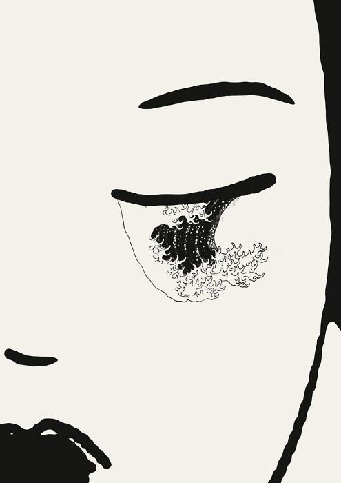 Javier Jaen; http://off-the-wall-b.tumblr.com/ #woman #jaen #tear #illustration #lady #javier