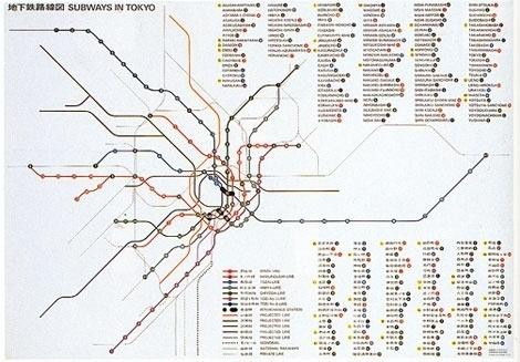 grain edit · Ryohei Kojima #subway #tokyo #map #1972