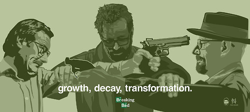 Growth, Decay, Transformation. By: Nick Spanos #transformation #pinkman #decay #felina #cranston #bad #paul #amc #white #bob #spanos #jesse #rj #poster #goodman #growth #meth #mitte #odenkirk #walter #nick #breaking #saul #aaron #heisenberg #art #fan #bryan