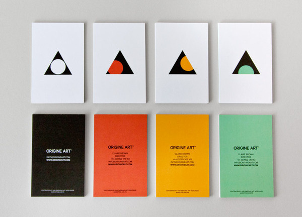 Business card design for Origine Art by Ascend studio #business #design #art #logo #cards