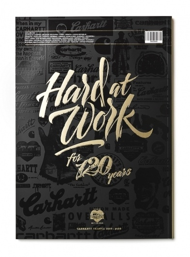 Carhartt Brandbook 2009 | Flickr - Photo Sharing! #calligraphy #lettering