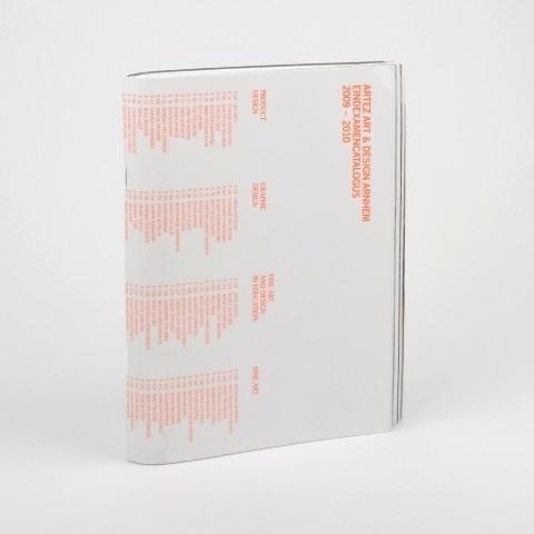 Eindexamencatalogus ArtEZ Art & Design Arnhem 2009-2010 - De Best Verzorgde Boeken