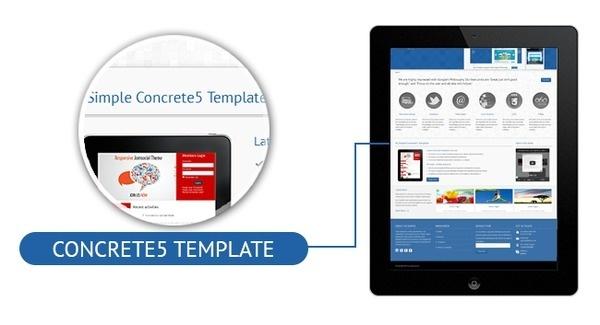 Mobile Reaqdy Concrete5 Theme #gallery #business #portfolio #theme #corporate #blue