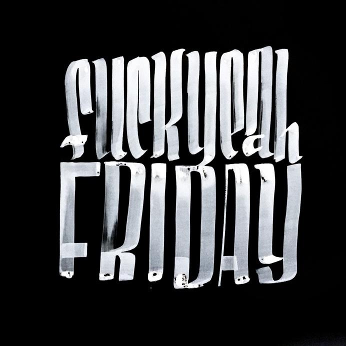 Fuck Yeah Friday v2 @spencerventure | spencerventure.com #lettering #handdrawn #logo #letterforms #penandink #ink #digital
