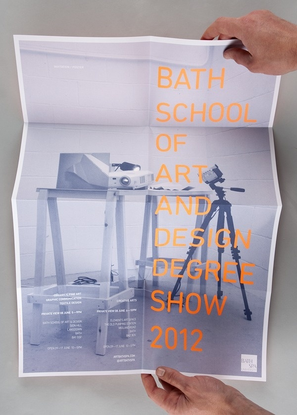 Studio Jubilee — Bath School of Art and Design #print #poster #orange #leaflet #degree show