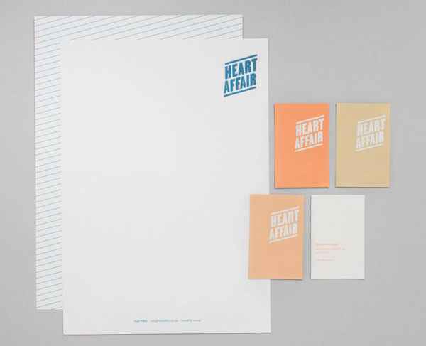 lovely stationery heart affair 2 #design #graphic #identity #ststionery
