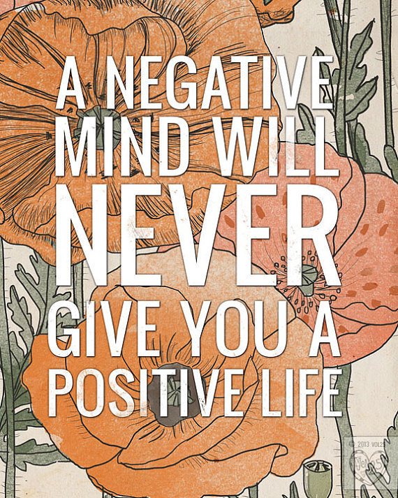 A Positive Life by vol25 #quote #inspiration #typography