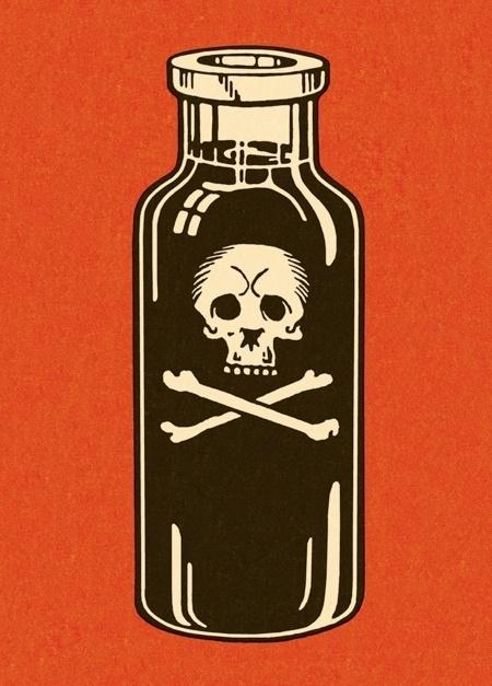 Mulligan Studios — CSA Images #illustration #bottle #poison #skull