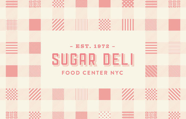 Sugar Deli #typography #logo #identity #pattern #brand #food