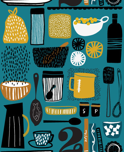 print #illustration #kitchen #pattern