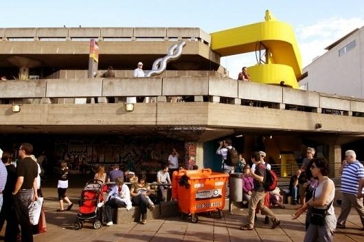 British Anti-Modernism & London's South Bank : Keir Alexander #herron #concrete #hayward #london #brutalism #yellow #south #architecture #bank #keir #ron