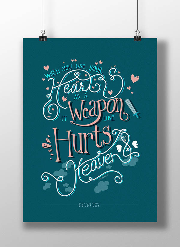 Coldplay Typographic Posters by Katrina Ang