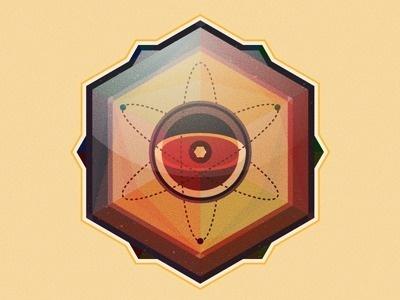 Atomic Hexagon #geometric #perryman #atomic #molecule #hexagon