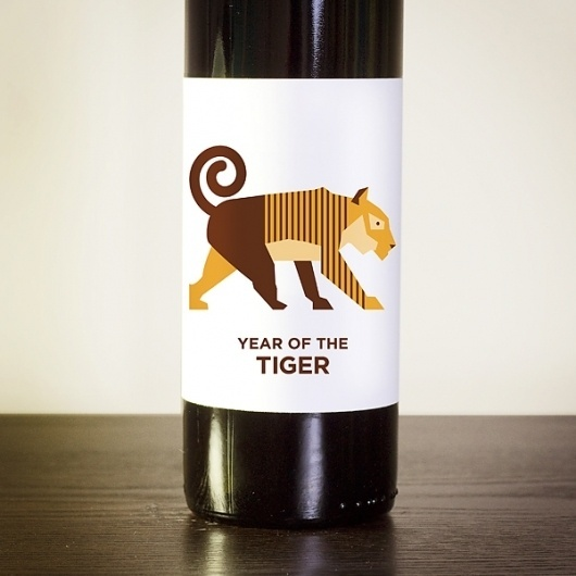 Jag Nagra: Vancouver Graphic Designer and Photographer #zodiac #packaging #wine #chinese #illustration #tiger
