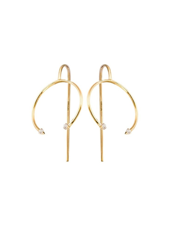 Fine jewellery earrings by SMITH/GREY #ring #jewellers #jewelry #earrings #finejewellery #gemstones #gold #artdirection #fashion #circle #ge