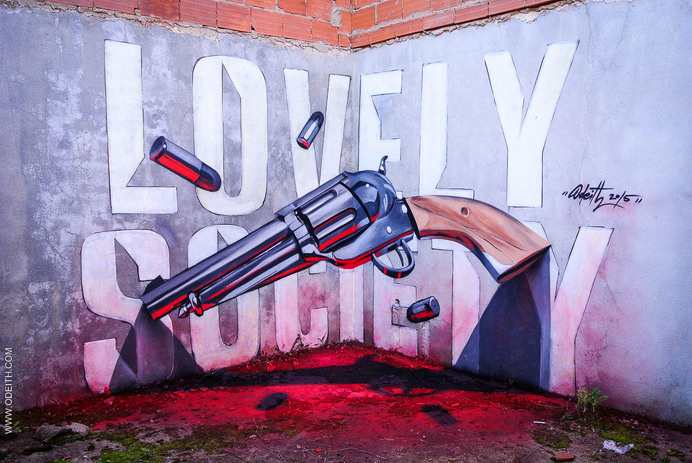 lovely society odeith anamorphic revolver - 2015 #graffiti #anamorphic #odeith