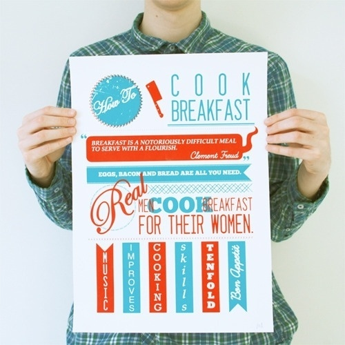 How To Project How To: Cook Breakfast - Connecting Design & Learning #print #poster #illustration