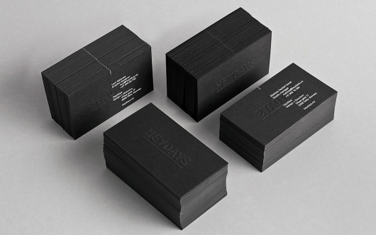 Heydays – New Work Special | September Industry #black #cards #business #typography