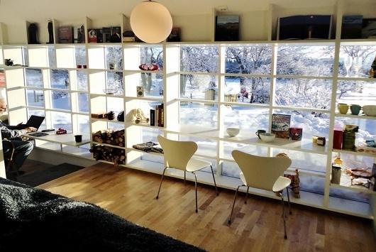 visiondivision: spröjs house #interior #decor #desk #shelving