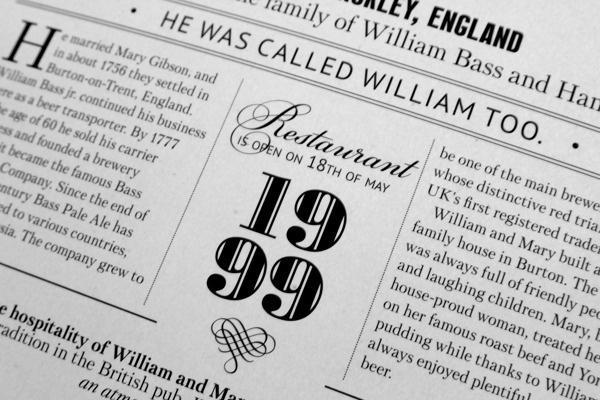 William Bass menu #beer #london #menu #design #typography