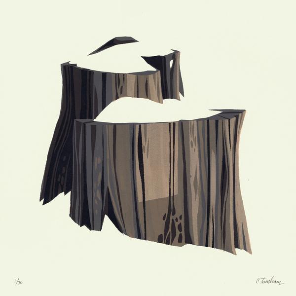 Snowy Tree Stump 3 #illustration #fleetstreetscandalcom