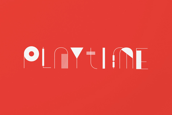 Playtime, by SAVVY #inspiration #creative #red #geometry #design #graphic #typography