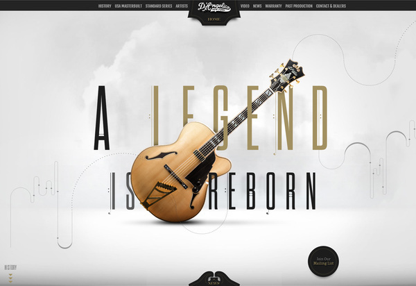 D'Angelico Guitars #design #web #parallax