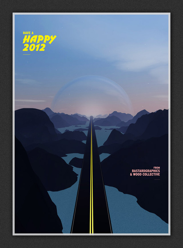 Happy New Year ! #happy #year #card #road #landscape #new