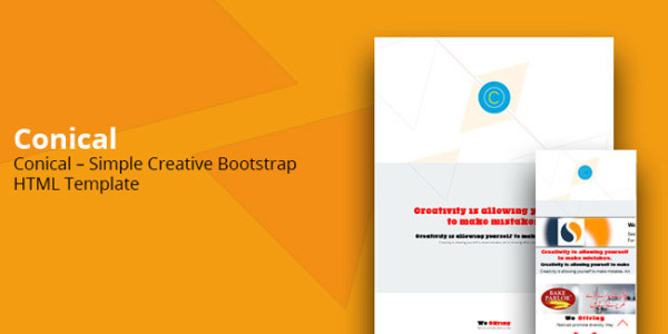 Conical Simple Creative Bootstrap HTML Template.