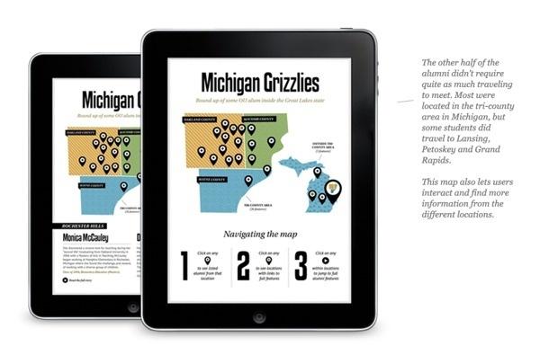 Oakland University Alumni Digital Magazine on Behance #infographics