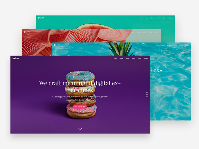 Here are 4 colourful intro/landing pages you can use for showcasing and promoting a product or for creating websites for yourself or #creati