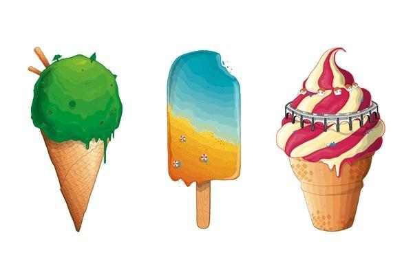 Monte Verde Festival '13 on Behance #cream #cone #design #vibrant #illustration #art #summer #lolly #ice #colour #treat