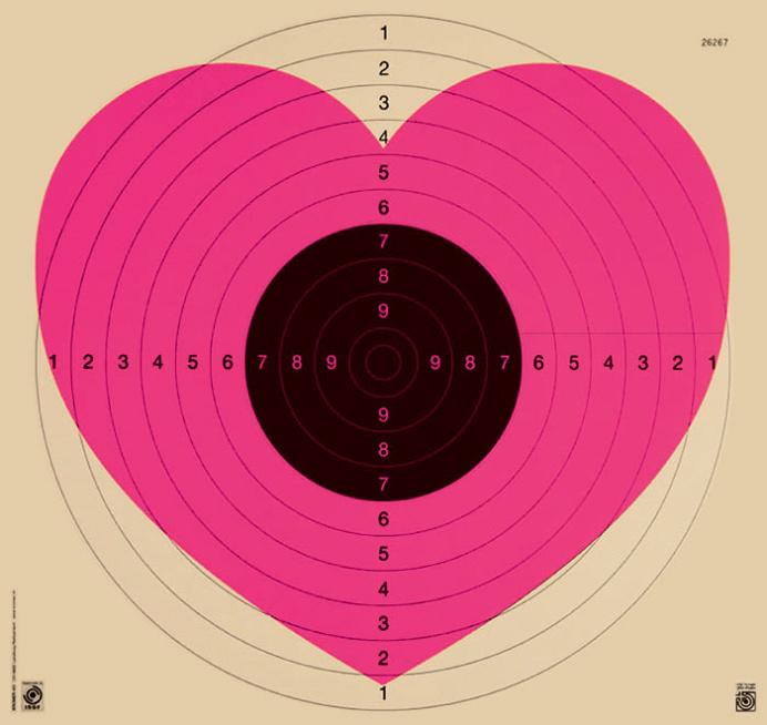 Patrick Thomas Heart/Target Fluoro Pink III