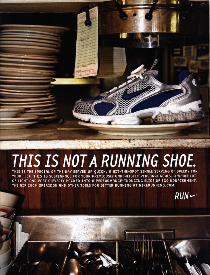 Retro Sports Ad #7, Nike Running, Air Zoom Spiridon, Sports Illustrated August 11, 2003.