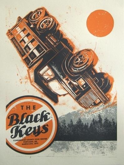 GigPosters.com - Black Keys, The #truck #gig #screenprint #black #poster #keys