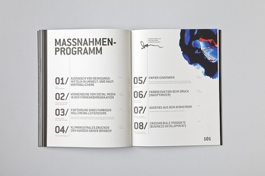 SUSTAINABILITY REPORT on the Behance Network #catalog #print #layout #typography