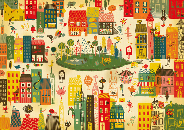 ARHOJ > Lejerbo #city #illustration #poster #buildings