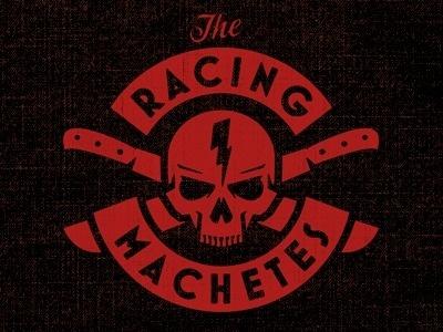 Dribbble - Machete Skull by Brandon Rike #racing #crossbones #logo #skull #motorcycle