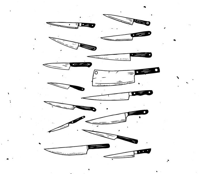 #illustration #knives