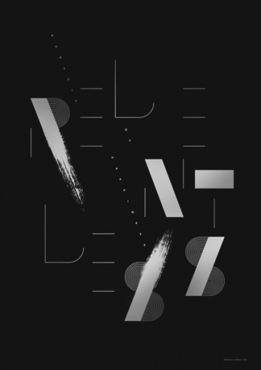 Relentless Pursuit of Happiness — by Sawdust #line #black #pos #poster #brush #sawdust #monochromatic #typography