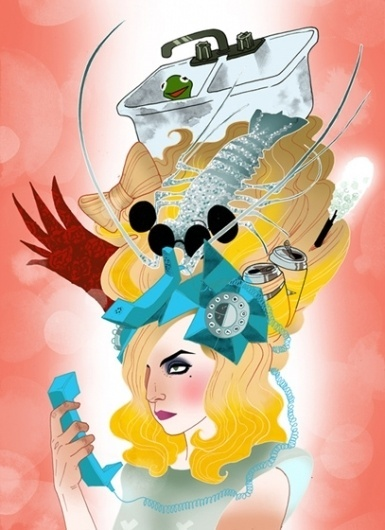 main10.jpg (JPEG Image, 407 × 560 pixels) #illustration #design #gaga #art