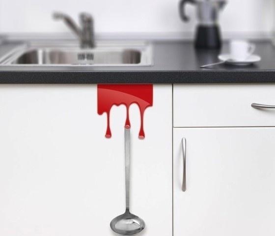 Red Kitchen Tidy Hooks #kitchen #home