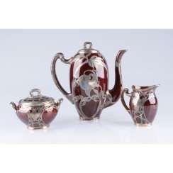 Tea coffee set in the art Nouveau style. USA, firm Lenox.