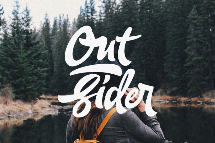 Out Sider #typography #lettering